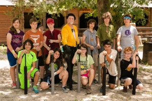 Sherwood Forest Summer Camp 2015 - swordplay group photo