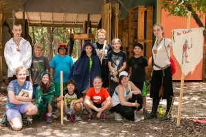Sherwood Forest Summer Camp 2015 - woodworking group photo
